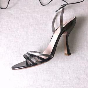Silver Summer Glam MIU MIU Prada Heels sz 37 US 7
